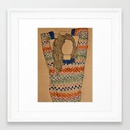 me. Framed Art Print