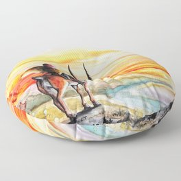 """Sunset"" Floor Pillow"