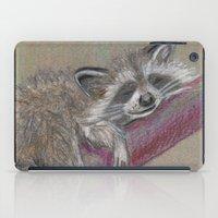 racoon iPad Cases featuring Racoon sleeping by Pendientera