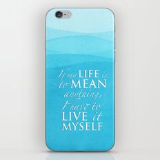Live it myself - book quote from Percy Jackson and the Olympians iPhone & iPod Skin