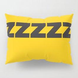 ZZZZZZ Black on Yellow Pillow Sham