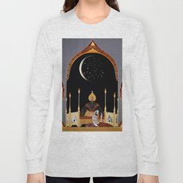 "Art Deco Exotic Design ""In the Casbah"" Long Sleeve T-shirt"