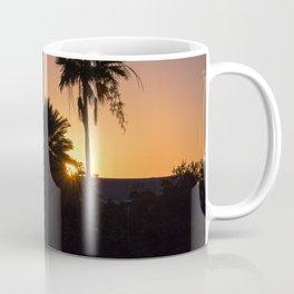 Backlight with palm trees Coffee Mug