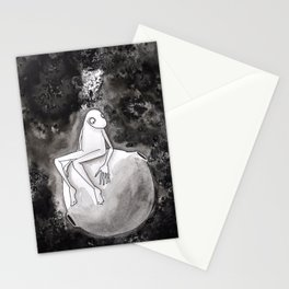 Omino Luna be alone Stationery Cards
