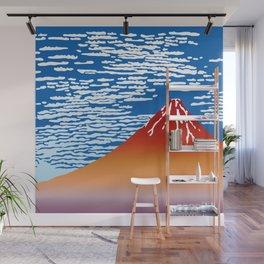 Hokusai Red Fuji_01 Wall Mural