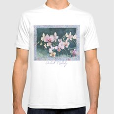 Orchid Melody White Mens Fitted Tee MEDIUM