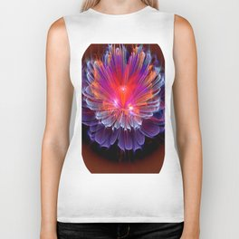 Neon Flower - A Vision all Aglow Biker Tank