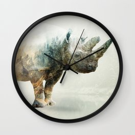RHINO SPINE Wall Clock