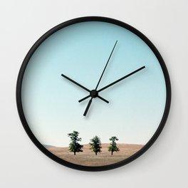 Three of a Kind (Northern California) Wall Clock