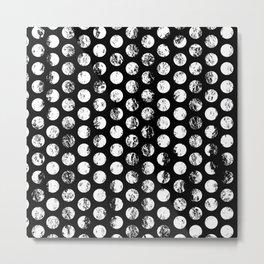 Stamped Spots Metal Print
