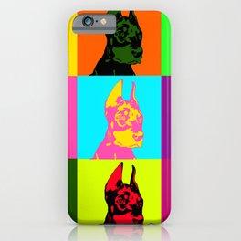 Doberman puppy dog iPhone Case