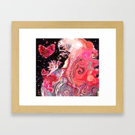 A Woman's Multiverse * Red Framed Art Print