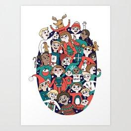 Christmas Kiddiwinks Art Print