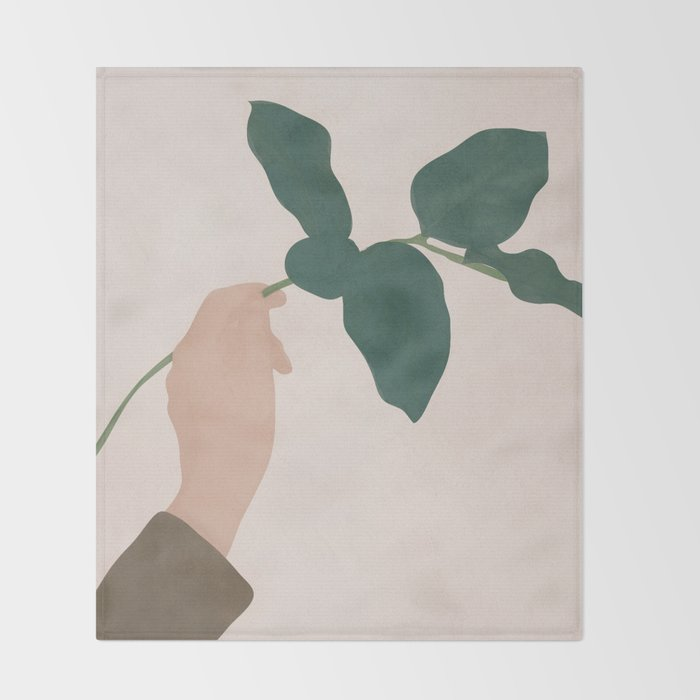 Holding the Branch Throw Blanket