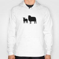 sheep Hoodies featuring Sheep by Brontosaurus