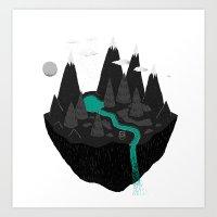 island Art Prints featuring island. by Louis Roskosch