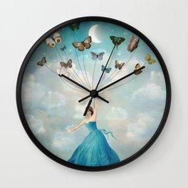 Leaving Wonderland Wall Clock