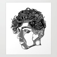 danny haas Art Prints featuring Danny by Alastair Vanes