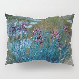 Monet Irises and Water Lilies Pillow Sham