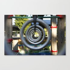 Through the Park Rings Canvas Print