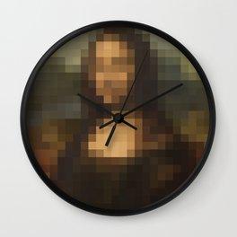 Mona Lisa Pixel Wall Clock