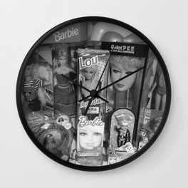 #BarbieLou with tomodachi b/w Wall Clock