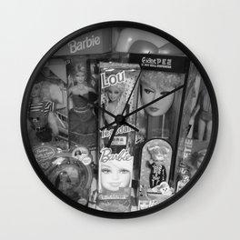 #BarbieLou with tomodachi b/w Wall Clock