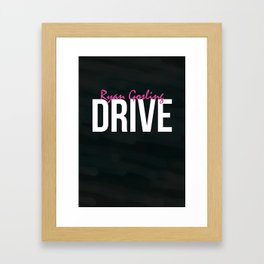 Drive - Minimalist Print Framed Art Print