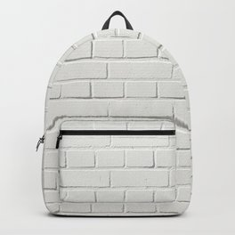 white brick wall tapestry Backpack