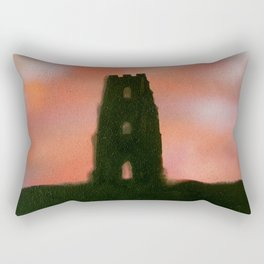 Sunset Over the Tor Rectangular Pillow