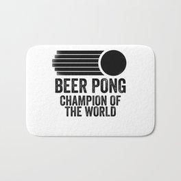 Beer Pong Champion Bath Mat