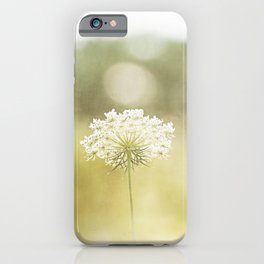 Queen Anne's Lace Nature Photography, Pale Yellow Floral Photography iPhone Case