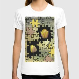 tulips and puzzle -2- T-shirt