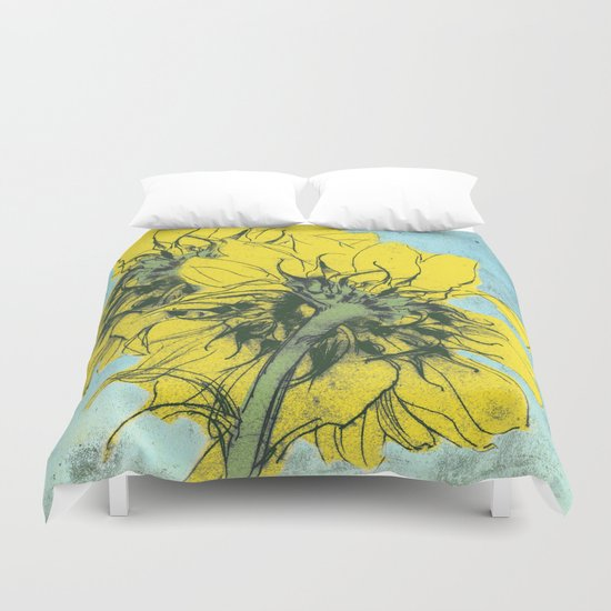 The sunflowers moment Duvet Cover
