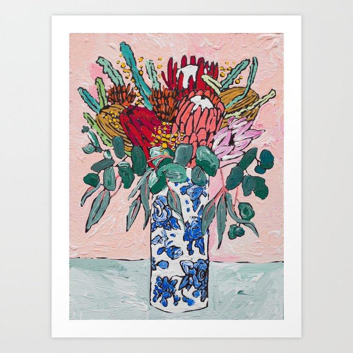 Australian Native Bouquet of Flowers after Matisse Art Print