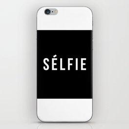 Selfie - version 2 - white iPhone Skin
