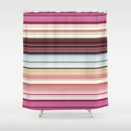 Sandwich cookie stripes Shower Curtain