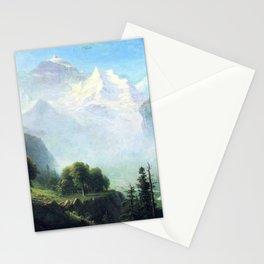 Staubbach Falls Near Lauterbrunnen Switzerland By Albert Bierstadt   Reproduction Painting Stationery Cards