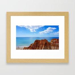 Beach on Portugal Framed Art Print