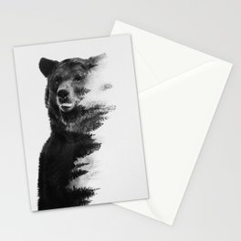 Observing Bear Stationery Cards