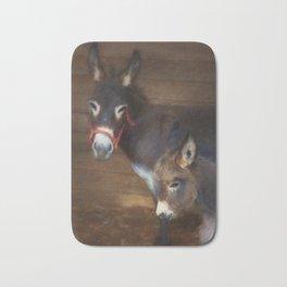 Miniature Donkey Baby with Mom Bath Mat