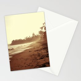 Vintage Retro Sepia Toned Coastal Beach Print Stationery Cards