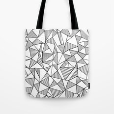 Abstraction Lines Black on White Tote Bag