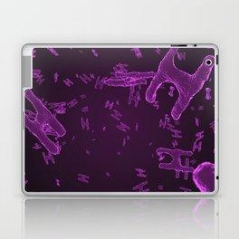 Abstract purple virus cells Laptop & iPad Skin
