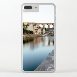 The Habour of  Dinan in France Clear iPhone Case