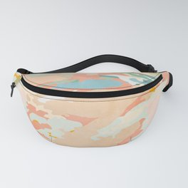abstraction landscape in pastels Fanny Pack