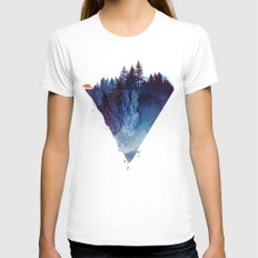 Near to the edge White Womens Fitted Tee MEDIUM