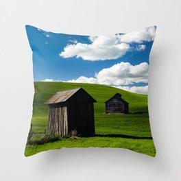 Two Shacks Throw Pillow
