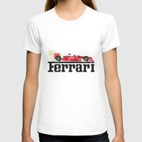 f1 T-shirts featuring Ferrari F1 by Lewys Williams