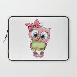 Little Girl Owl Laptop Sleeve